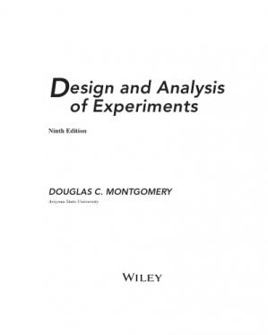 Couverture du livre Design and Analysis of Experiments