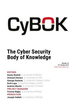 Book cover CyBok: The Cyber Security Body of Knowledge