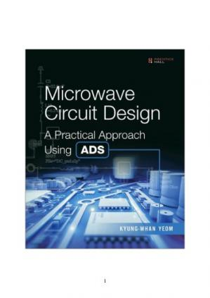 Book cover Microwave Circuit Design A Practical Approach Using ADS