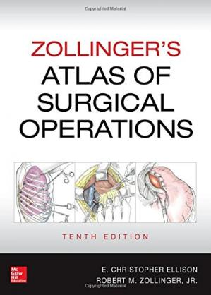 Book cover Zollinger's Atlas of Surgical Operations, Tenth Edition