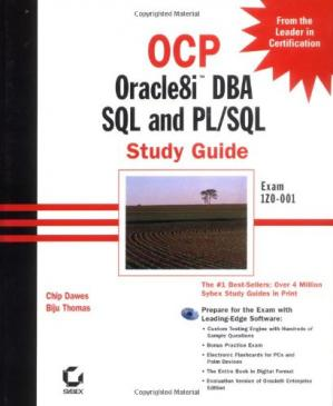 Portada del libro OCP: Oracle8i DBA SQL and PL/SQL Study Guide