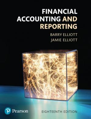 Book cover Financial accounting and reporting
