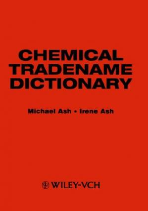 Couverture du livre Chemical Tradename Dictionary