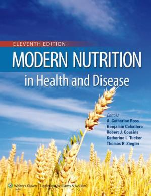 A capa do livro Modern Nutrition in Health and Disease (11th Ed.) – Wolters Kluwer-Lippincott Williams & Wilkins