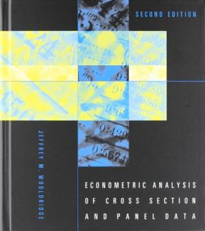 Book cover Econometric Analysis of Cross Section and Panel Data