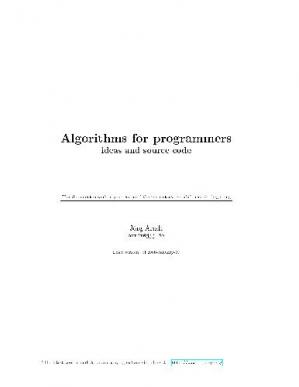 Book cover Algorithms for programmers: ideas and source code