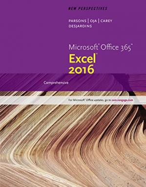 Book cover New Perspectives Microsoft Office 365 & Excel 2016: Comprehensive