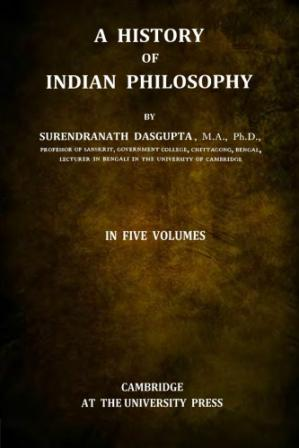 Book cover A History of Indian Philosophy, Vol. I.-V