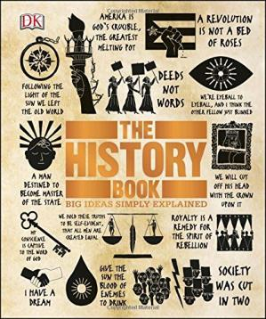 A capa do livro The History Book (Big Ideas Simply Explained)
