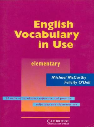 Book cover English Vocabulary in Use: Elementary