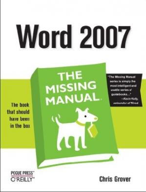 Book cover Word 2007: The Missing Manual