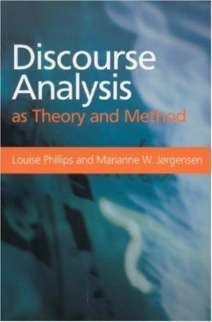 Book cover Discourse Analysis as Theory and Method