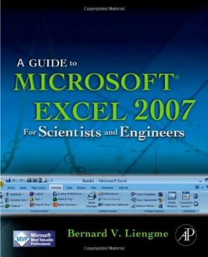 Book cover A guide to Microsoft Excel 2007 for scientists and engineers