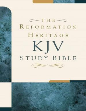 غلاف الكتاب The Reformation Heritage KJV Study Bible