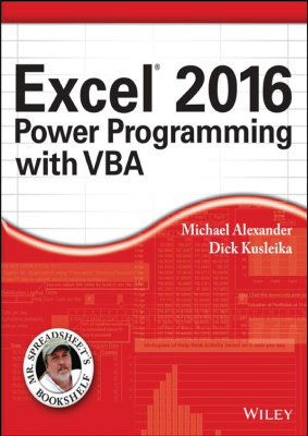 Book cover Excel 2016: Power Programming with VBA