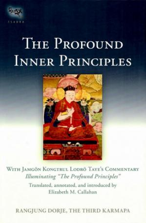 "पुस्तक कवर The Profound Inner Principles - With Jamgon Kongtrul Lodro Taye's Commentary Illuminating ""The Profound Principles"""