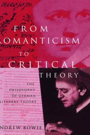Book cover From Romanticism to Critical Theory: The Philosophy of German Literary Theory