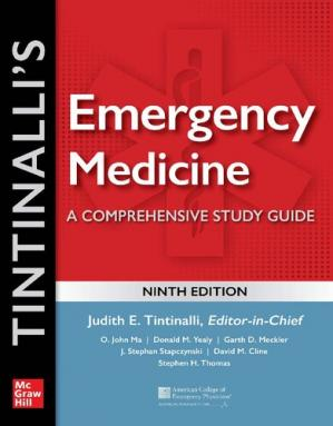Book cover Emergency Medicine A Comprehensive Study Guide 9th ed