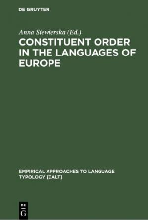 Book cover Eurotyp: Typology of Languages in Europe, Volume 1: Constituent Order in the Languages of Europe