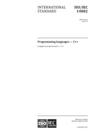 Book cover C++17 – ISO/IEC 14882:2017