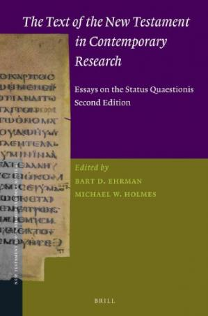 Обложка книги The Text of the New Testament in Contemporary Research: Essays on the Status Quaestionis