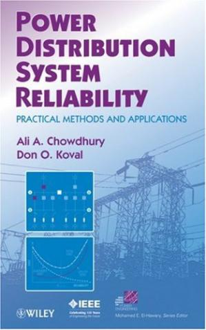 A capa do livro Power Distribution System Reliability: Practical Methods and Applications (IEEE Press Series on Power Engineering)