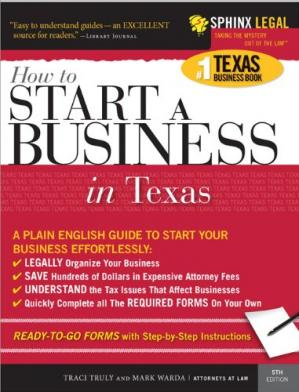 Book cover Start a Business in Texas, 5e (Legal Survival Guides)