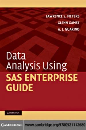 Buchdeckel Data Analysis Using SAS Enterprise Guide