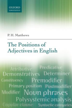 Book cover The Positions of Adjectives in English