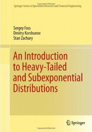 Bìa sách An introduction to heavy-tailed and subexponential distributions