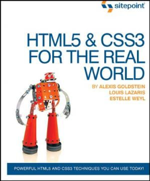 A capa do livro HTML5 & CSS3 For The Real World