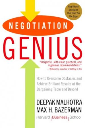 Copertina Negotiation Genius: How to Overcome Obstacles and Achieve Brilliant Results at the Bargaining Table and Beyond