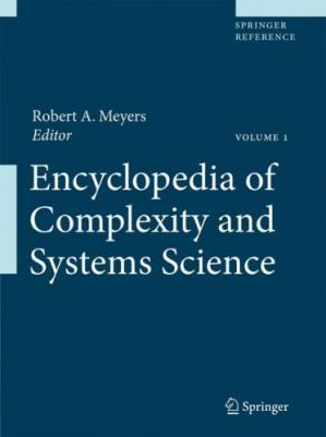 A capa do livro Encyclopedia of Complexity and Systems Science