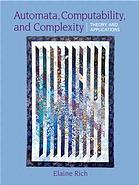 表紙 Automata, Computability and Complexity: Theory and Applications