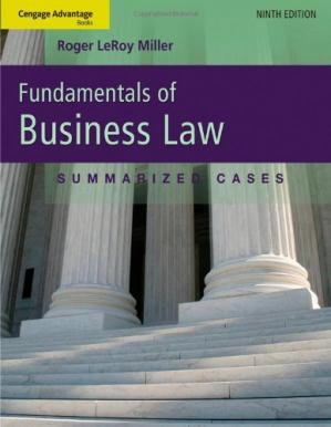 Copertina Cengage Advantage Books: Fundamentals of Business Law: Summarized Cases