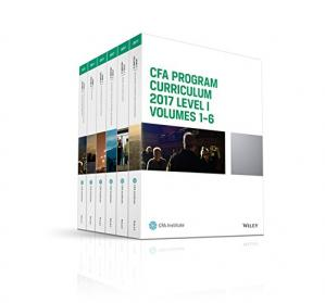 Portada del libro Wiley CFA 2017 Level I - Study Guide Vol 1