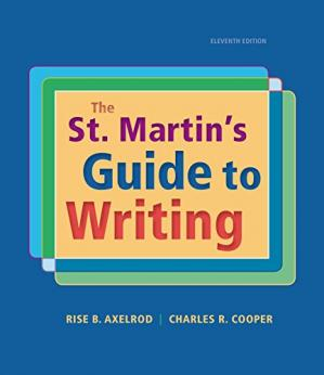La couverture du livre The St. Martin's Guide to Writing