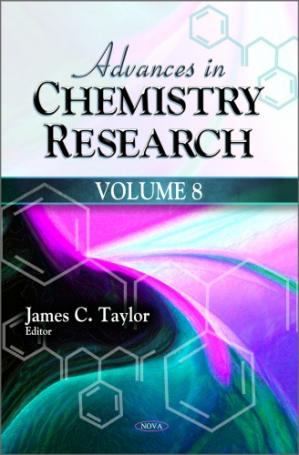 Book cover Advances in Chemistry Research, Volume 8
