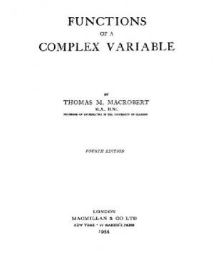 Book cover Functions of a complex variable