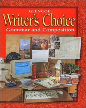 Book cover Glencoe Writer's Choice: Grammar and Composition Grade 7