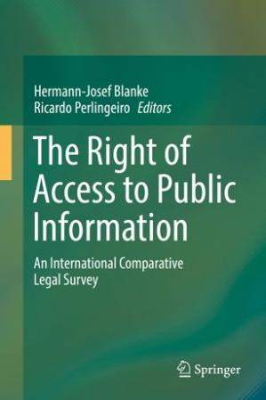 Book cover The Right of Access to Public Information