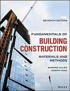 د کتاب پوښ Fundamentals Of Building Construction: Materials And Methods, 7th Edition