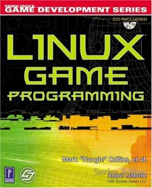 Book cover Linux Game Programming w/CD (Prima Tech's Game Development)