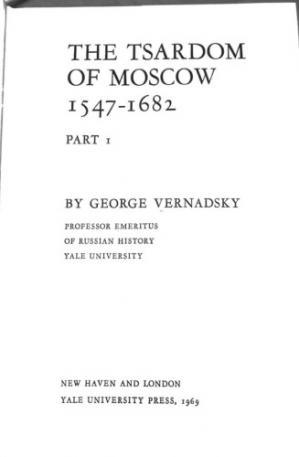 Book cover History of Russia Vol 5: The Tsardom of Moscow Part 1