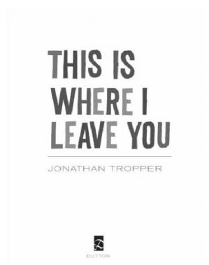 Book cover This Is Where I Leave You