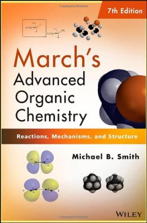 A capa do livro March's Advanced Organic Chemistry: Reactions, Mechanisms, and Structure