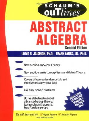 Book cover Schaums outline of theory and problems of abstract algebra