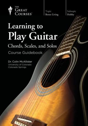 Portada del libro Learning to Play Guitar: Chords, Scales, and Solos