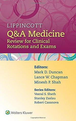 Book cover Lippincott Q&A Medicine: Review for Clinical Rotations and Exams