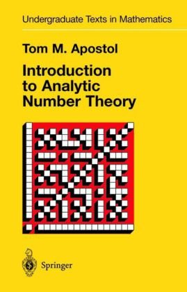 A capa do livro Introduction to Analytic Number Theory